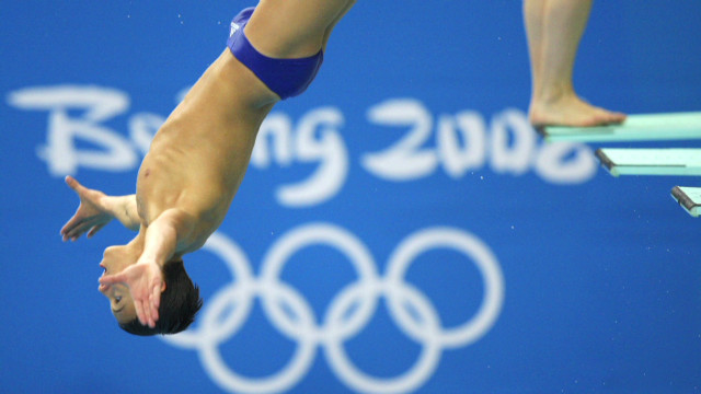 Olympic diver 'still has to go to school'