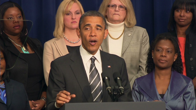 Obama touts health care, jobs to women