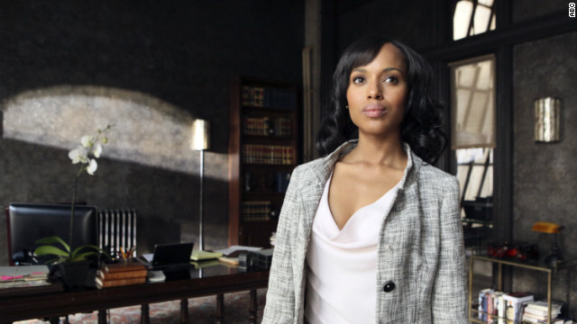 "Actress Kerry Washington stars in the ABC show ""Scandal."""