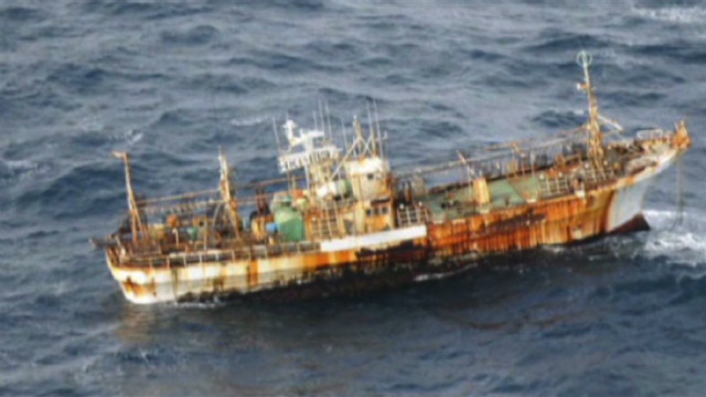Japanese ship drifts for a year at sea