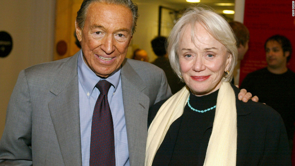 Wallace and his wife, Mary, arrive at a New York City screening in 2003. In 2008, Wallace underwent successful triple-bypass heart surgery.
