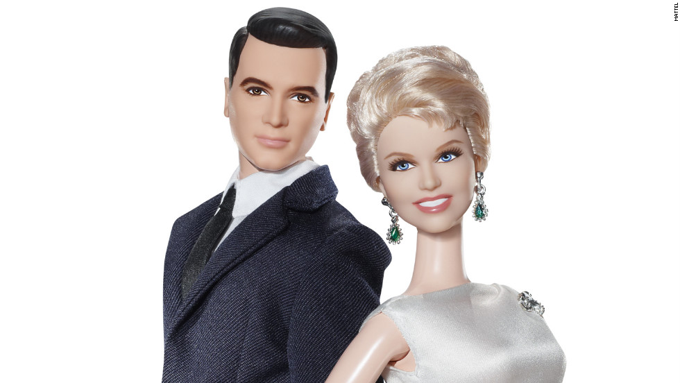 "Brad Allen (Rock Hudson) and Jan Morrow's (Doris Day) ""Pillow Talk"" Barbies are dressed to the nines."