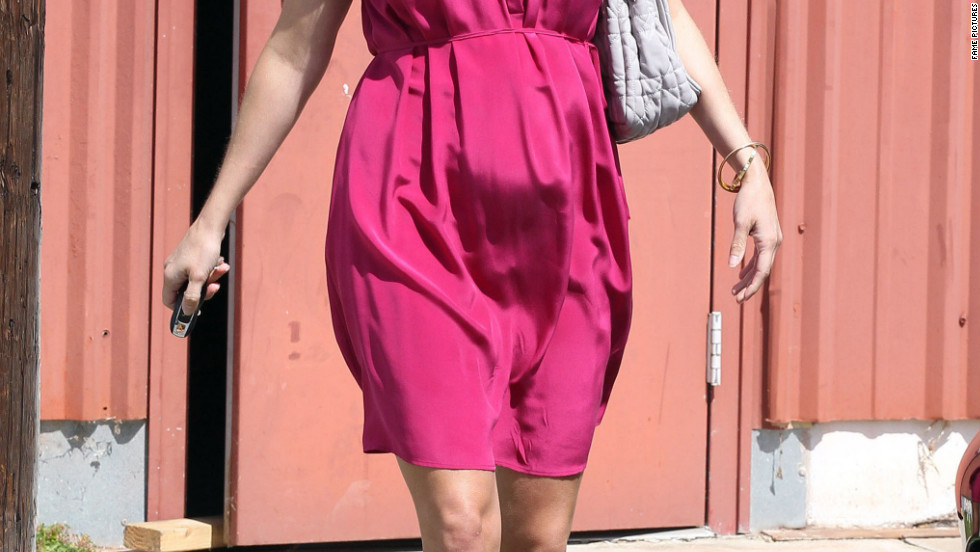 Reese Witherspoon goes to church with her family in Santa Monica.