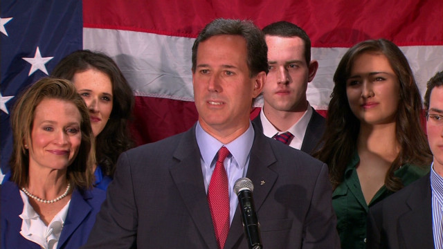 Santorum: The 'race for us is over'