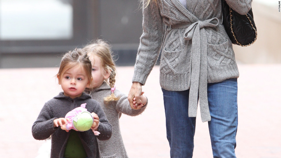 Sarah Jessica Parker takes her daughters to school in New York City.