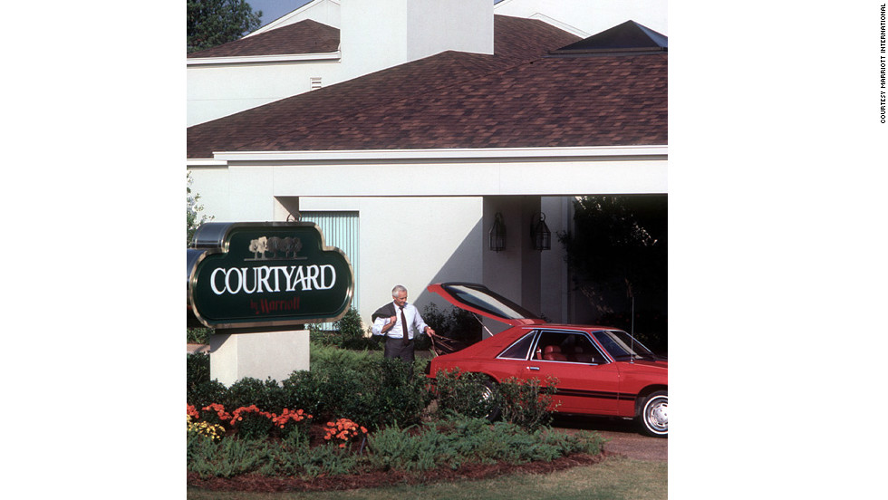 "The modern hotel industry is characterized by segmentation into brands. Marriot opened its first sister brand, Courtyard, in Atlanta, in 1983. <br /><br />""It was tremendously successful,"" said Bill Marriott. ""So then we just started cranking out these Courtyards. They didn't have a lot of services -- limited restaurant menu, no bellman, no room service, no parking attendants -- but it was a low price for a great room."" There are now more than 700 Courtyard hotels."