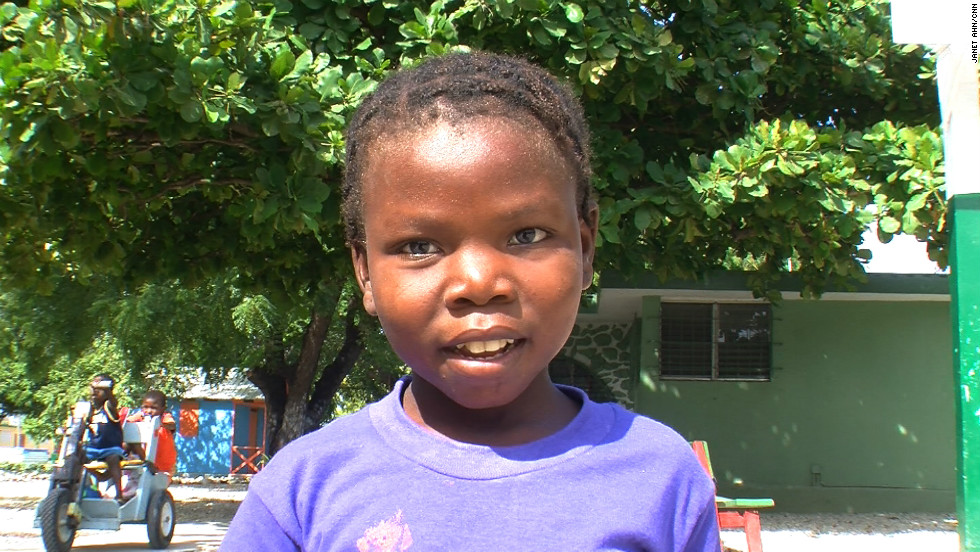An 8- year-old girl named Lavita was suffering from severe malnutrition at the tent city orphanage until she found a new home at the New Life Children's Home and Rescue Center in Port-au-Prince.