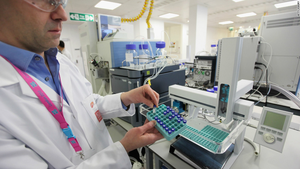 The laboratory is owned by pharmaceutical company GlaxoSmithKline, one of the London 2012 sponsors.