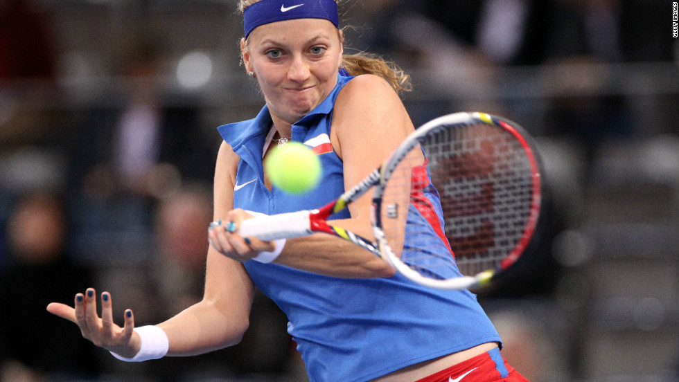 Kvitova bounced back with two wins as the Czech Republic reached the semifinals of the Fed Cup with victory over Germany in Stuttgart in early February.