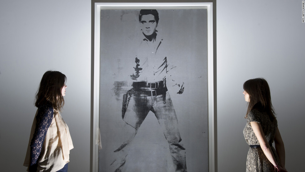 "Andy Warhol's ""Double Elvis [Ferus Type]"" -- tipped to sell for between $30 and $50 million -- has already been exhibited in Los Angeles and Hong Kong, and will be on show in London until April 15."