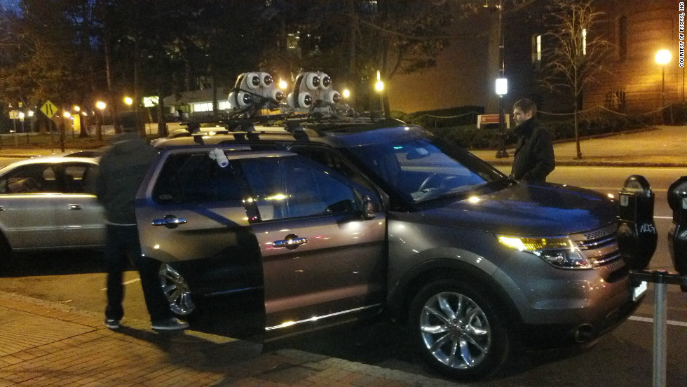 Inspired by Google Street View, essess attach their thermal-imaging equipment to an SUV before heading off up and down the U.S.