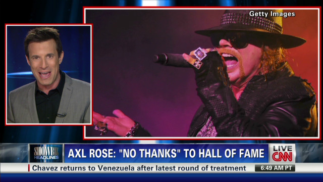 Axl Rose says 'no' to hall of fame