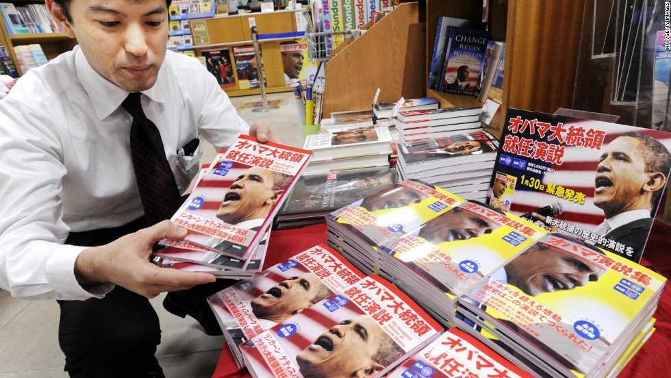 Despite fluctuating popularity at home, Obama is a hit in Japan, and a translated book of his speeches was a top seller on Japanese Amazon in 2009.