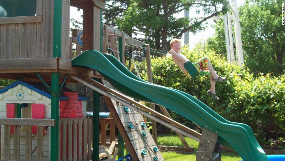 Lin Wessels remembers when she first saw her son, Sam, swinging in the backyard by himself. It took years of therapy for him to get the coordination to pump his legs while pushing and pulling the ropes with his arms and balancing on the seat.