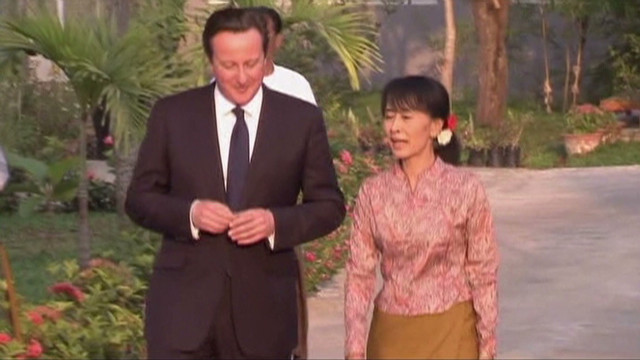 British PM's historic visit to Myanmar