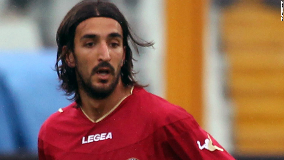 Livorno midfielder Piermario Morosini playing against Pescara on Saturday. The former Italy under-21 international collapsed during the game against Pescara and later died in hospital.