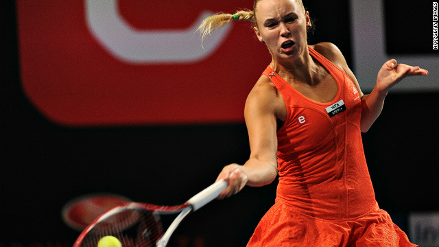 Caroline Wozniacki of Denmark has powered her way into a third successive final at her home event