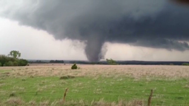 Tornadoes strike the Plains