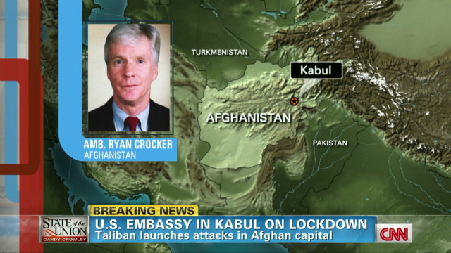 U.S. embassy in Kabul on lockdown