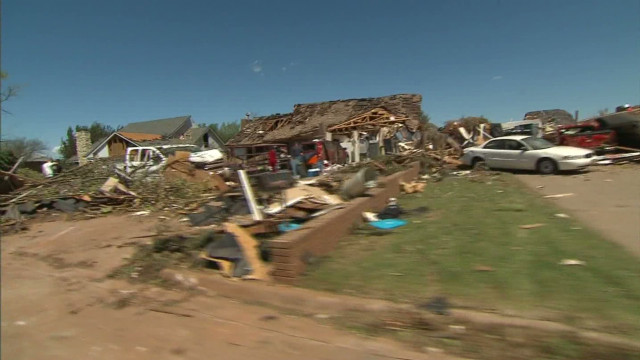 Oklahoma town hit hard by tornado