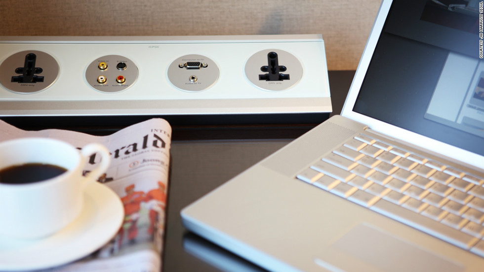 "The ""Remote Jack Pack"" in the rooms at the JW Marriott Seoul is typical of the new approach to in-room entertainment, providing a simple interface for guests to play media from their own devices through the room's television and speaker system."