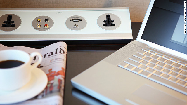 "The ""Remote Jack Pack"" in the rooms at the JW Marriott Seoul is typical of the new approach to in-room entertainment, allowing a simple interface for guests to play media from their own devices through the room's television and speaker system."