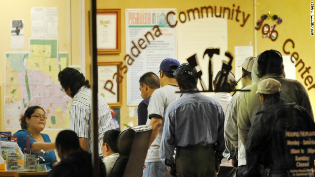 Job seekers at a community employment center in Pasadena, California, in 2009.