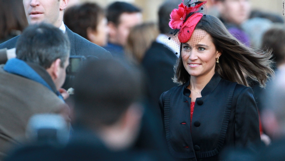 Pippa Middleton attends the wedding of Lady Katie Percy, a friend of Prince William and the Duchess of Cambridge, on February 26, 2011.