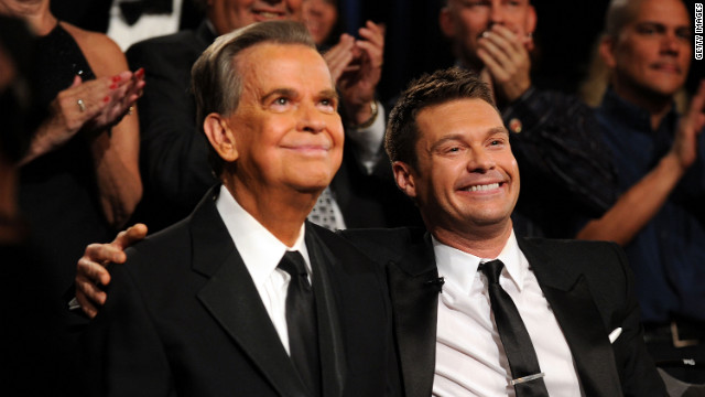 Ryan Seacrest, right, has acknowledged modeling his career on Clark's.