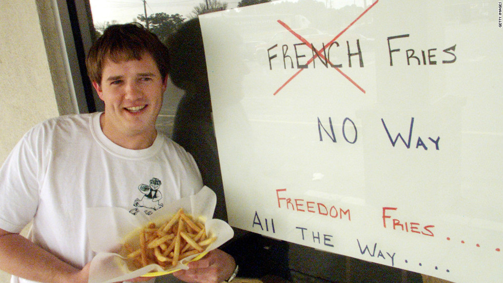 Neal Rowland changed the name of the French Fries he served at his North Carolina restaurant to Freedom Fries in 2003 to show his disgust with what many viewed as the French government's delaying tactics over Iraq.