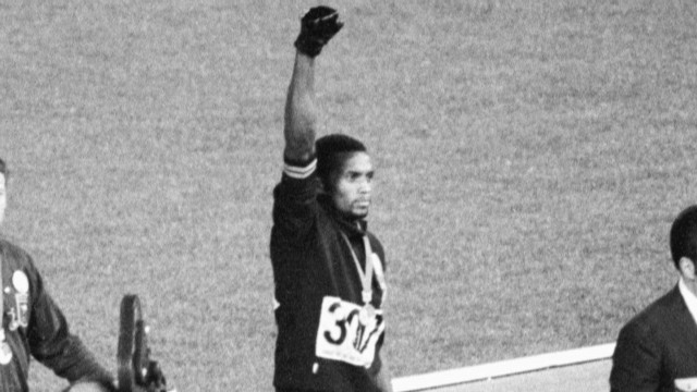 The infamous black power salute
