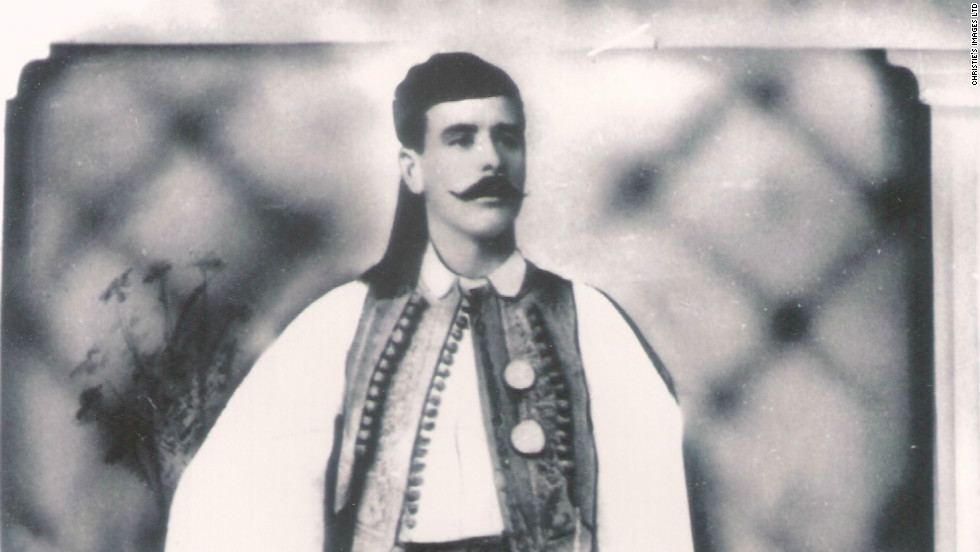 Spyros Louis (1873-1940) was presented with the cup after winning the marathon event at the inaugural Olympic Games in Athens. Even now in Greece, over 70 years after his death, his name remains a synonym for moving at speed.