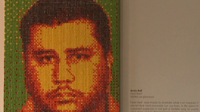 Artist depicts Zimmerman in Skittles