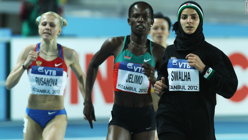 The 20-year-old Sawalha competed at the world indoor championships in Turkey in March -- her first experience of top-level international competition.