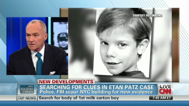 NYPD's Kelly on new lead in Patz case