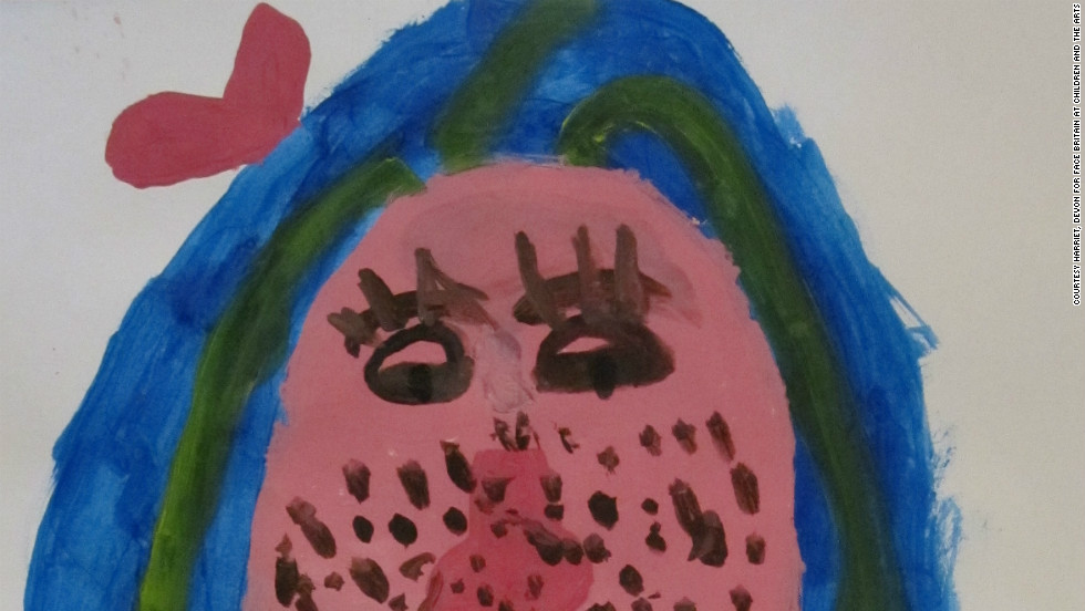 Eight-year-old Harriet from Devon also submitted her self portrait for the world-record attempt.