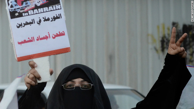 Protests ahead of Grand Prix in Bahrain