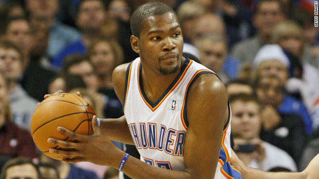 """If I'm not on the court, I got the controller in my hand,"" said Oklahoma City Thunder center Kevin Durant."