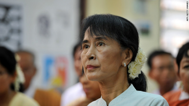 Aung San Suu Kyi's party has asked that the wording of an oath that lawmakers have to take be altered.