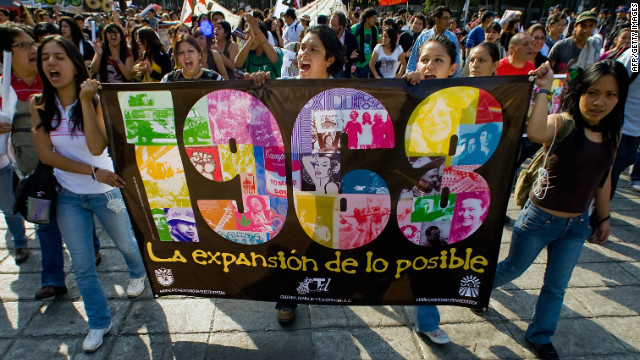 Annual protests in Mexico City mark the anniversary of the Tlatelolco massacre, which sparked security concerns before the 1968 Olympics.