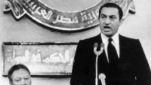 Mubarak, right, was sworn in as Anwar Sadat's successor on October 14, 1981, becoming Egypt's fourth president.