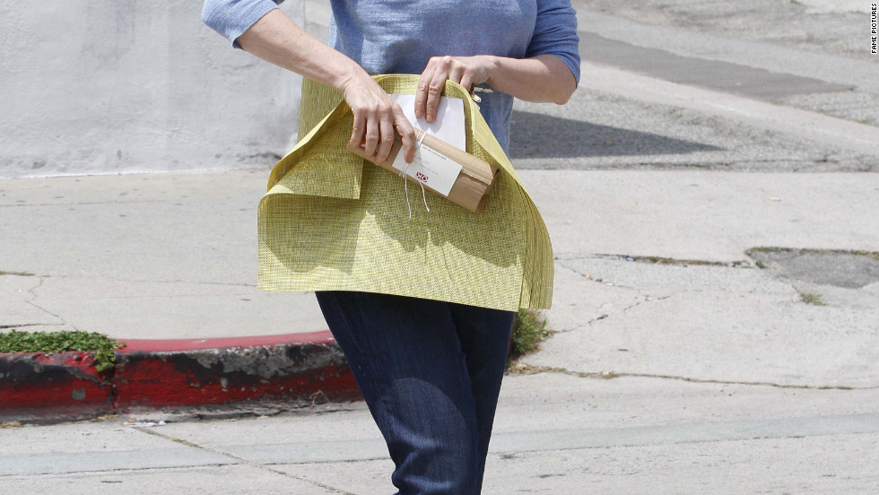 Jane Lynch goes shopping in Beverly Hills.