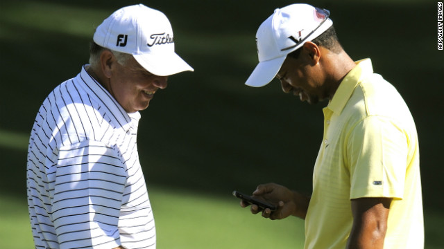 Golfers Mark O'Meara and Tiger Woods aren't the only ones who'll be able to check their phones on the course.