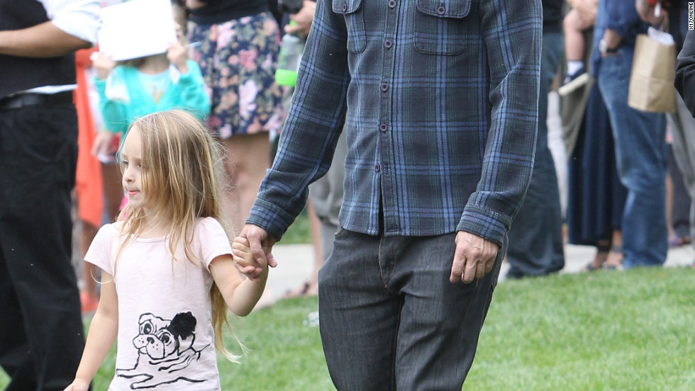 Tobey Maguire attends a charity event with his family in the Pacific Palisades.