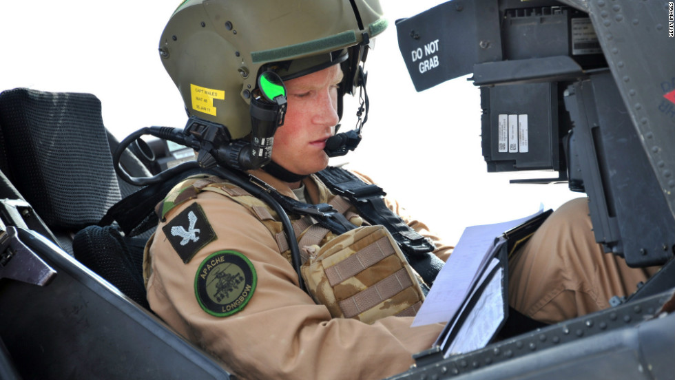 In October 2011, he took part in Apache helicopter exercises -- codenamed Crimson Eagle -- in the California and Arizona deserts, part of his training to become a full-time helicopter pilot in the Army Air Corps.