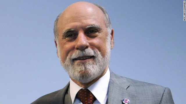 Vinton Cerf is considered one of the fathers of the Internet and is now a vice president at Google.
