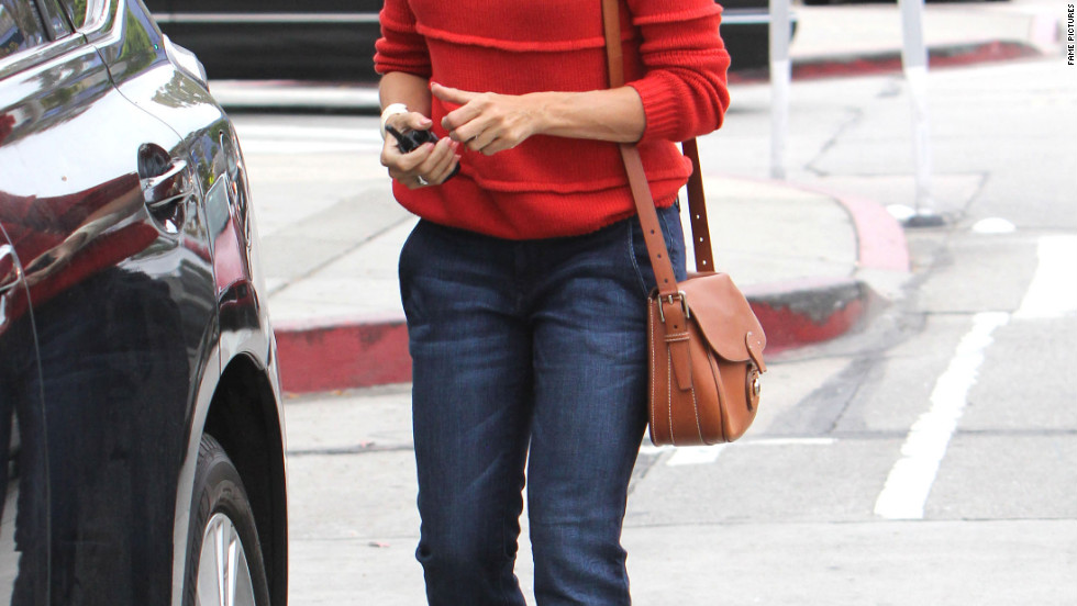 Eva Mendes goes shopping in Beverly Hills.