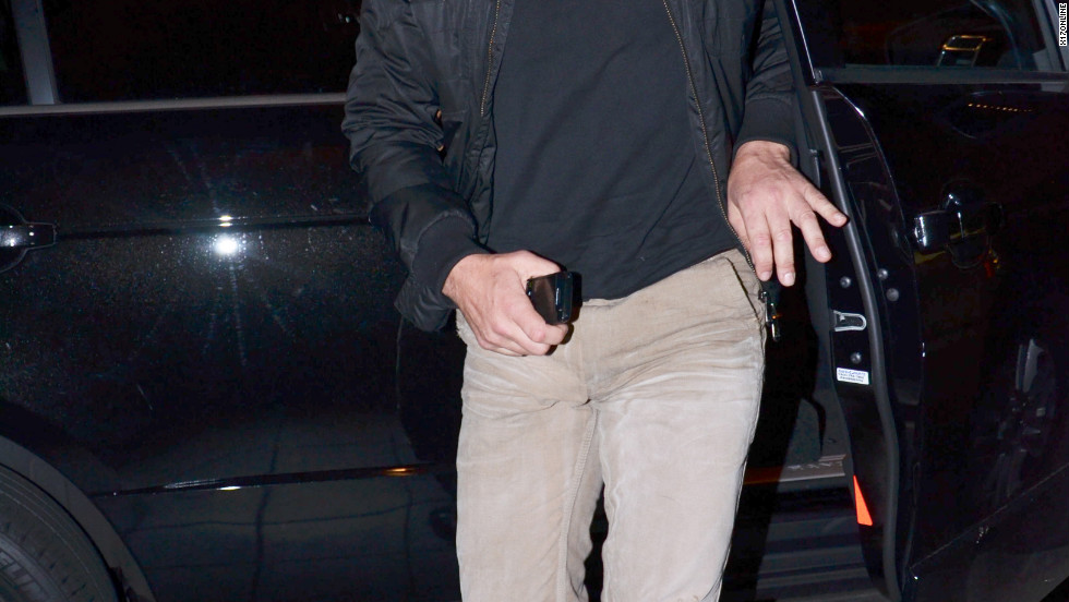 Gerard Butler arrives at a hotel in Hollywood.