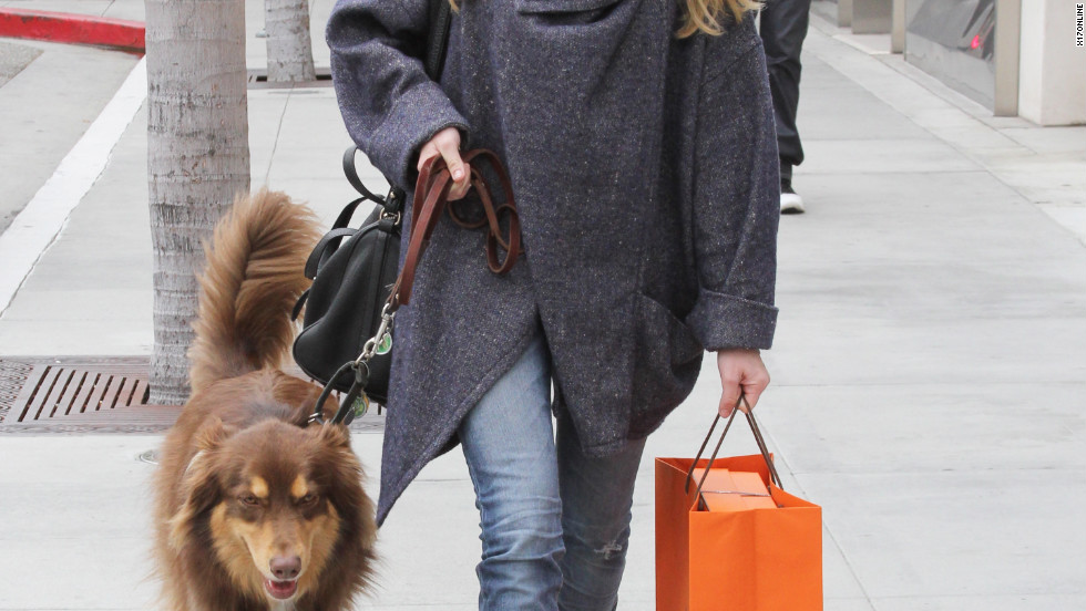 Amanda Seyfried goes shopping in Beverly Hills.