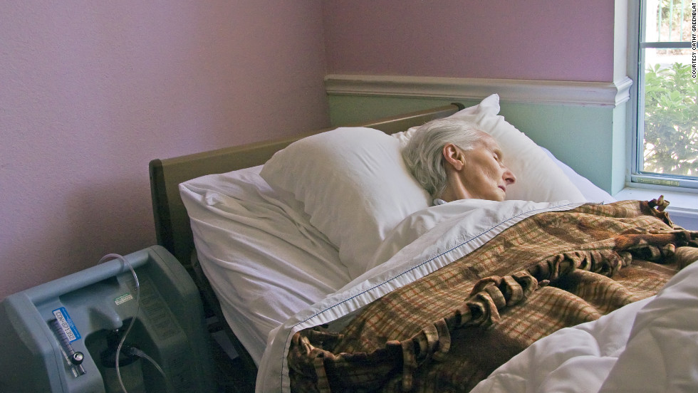 Cathy Greenblat's images of people around the world living with Alzheimer's disease include this unidentified patient with Alzheimer's in Texas who was near the end of her life.